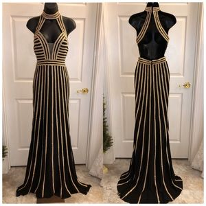 Jovani black and gold pageant dress never worn